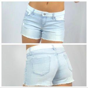 Mossimo Premium Denim Distress Jean Shorts